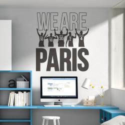 Sticker Lionel Messi - We are Paris