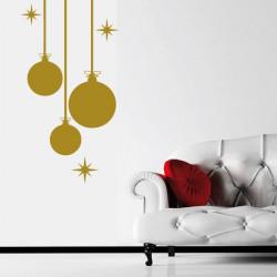 Noël - Boules de Noël et étoiles