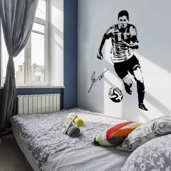 Sticker Lionel Messi joue au foot