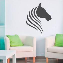 Sticker Tête de Cheval minimaliste