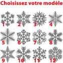Sticker Noël - Flocon de neige - Modèle au choix