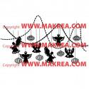 Sticker Guirlandes Anges et boules de Noël