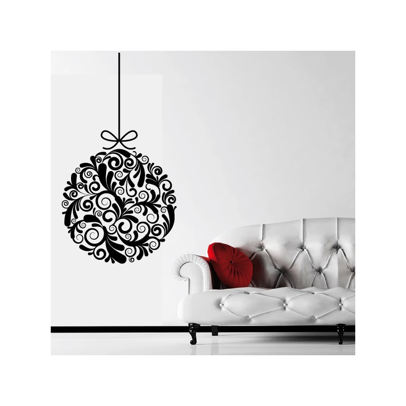 sticker no l boule de no l design. Black Bedroom Furniture Sets. Home Design Ideas