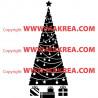 Sticker Sapin de Noël Guirlandes et cadeaux