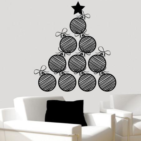Sapin de Noël Design Boules et Rubans