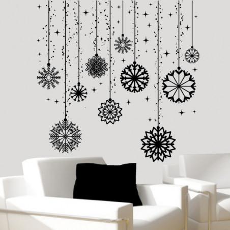 Noël - Boules de Noël et étoiles suspendues