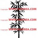 Sticker Bambou 1 branche Zen
