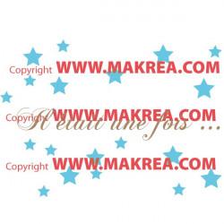 Sticker Etoiles et texte Il était une fois ... 2 couleurs