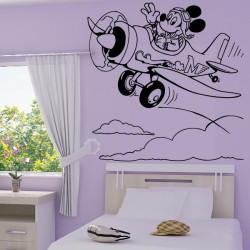 Sticker Mickey Pilote d' Avion