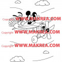 Sticker Mickey Pluto en Avion
