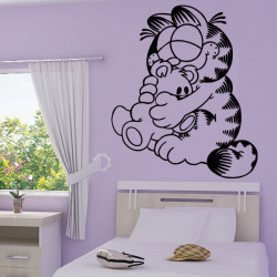 Sticker Garfield et son ourson