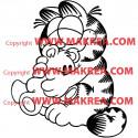 Sticker Garfield et son ourson