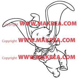 Sticker Dumbo Heureux