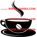 Sticker Tasse Café