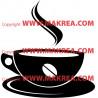Sticker Tasse Café