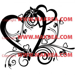 Sticker Coeur Baroque St Valentin