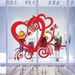 vitrine Coeur St-Valentin Baroque