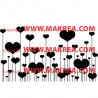 Sticker Vitrine Coeurs sur tiges St-Valentin