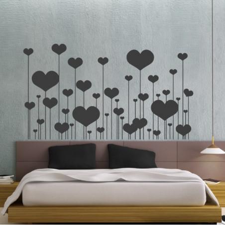 Coeurs sur tiges St-Valentin