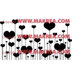 Sticker Coeurs sur tiges St-Valentin