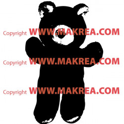 Sticker Ourson Peluche