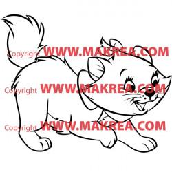 Sticker Marie la petite chatte - Les Aristochats
