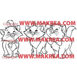 Sticker Marie et ses frères - Les Aristochats