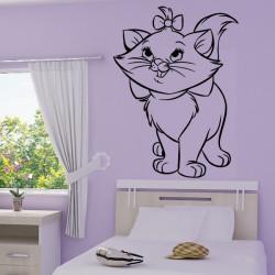 Sticker mural Marie la petite chatte