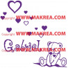 Sticker Ourson + Prénom Personnalisable