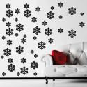 Sticker Noël - Pack/Kit 45 Flocons de neige