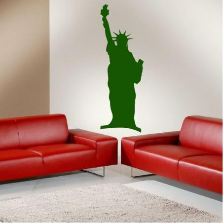 New-York - Statue de la Liberté Silhouette
