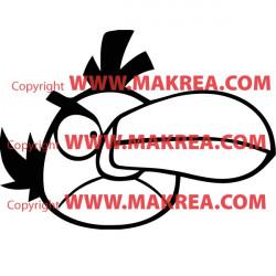 Sticker Angry Birds - Green Bird Al