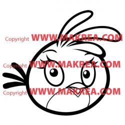 Sticker Angry Birds - Pink Bird Stella
