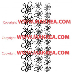 Stickers Pack/Kit 24 Abeilles
