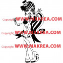 Sticker Monster High - Draculaura Tenue Soirée