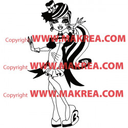 Sticker Monster High - Draculaura Tenue Soirée