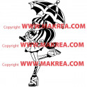 Sticker Monster High - Draculaura Parapluie Ouvert
