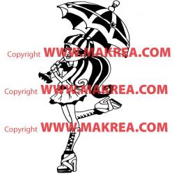Sticker Monster High - Draculaura Parapluie Ouvert