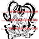 Sticker Monster High - Draculaura Assise