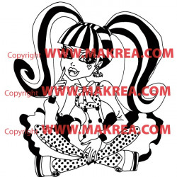 Sticker Monster High - Draculaura Assise