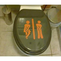 Sticker Abattant WC - Personnages H & F Humoristique