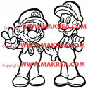 Sticker Super Mario bros et Luigi