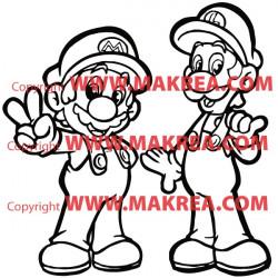 Sticker Super Mario bros et Luigi