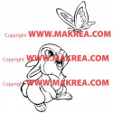 Sticker Bambi - Panpan regarde le Papillon