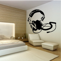 Sticker Casque Deejay