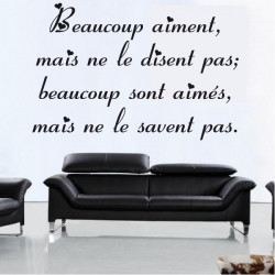 Citation : Beaucoup aiment, mais ne le disent pas...