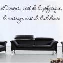 Sticker Citation : L'amour, c'est de la physique, le mariage c'est de l'alchimie