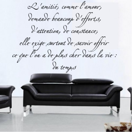 Citation : L'amitié, comme l'amour, demande beaucoup d'efforts ...
