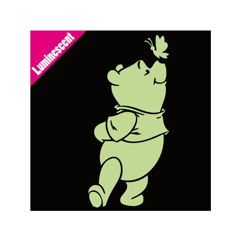 Sticker Luminescent Winnie Papillon sur le nez