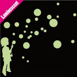 Sticker Luminescent Enfant qui souffle des bulles
